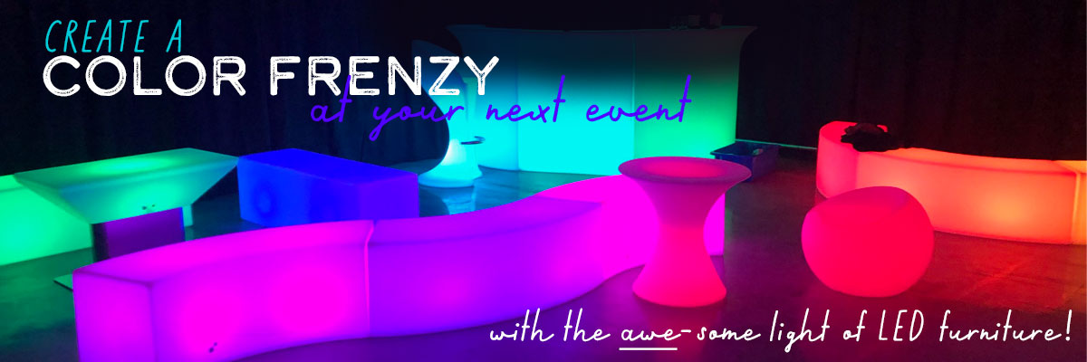 LED furniture ideas for parties and events