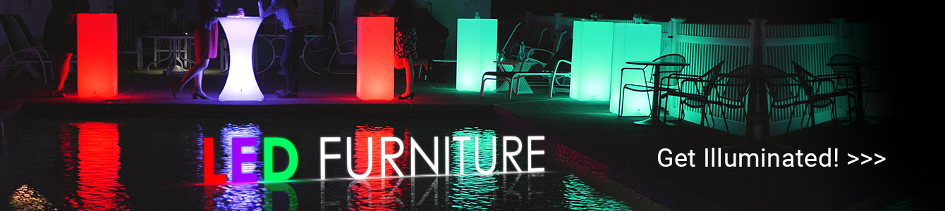 Liven up your next event or party with illuminated LED furniture!