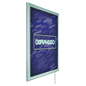 Wall-Mounted Illuminated Poster Frame with Silver Finish