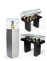 LED Illuminated Display Cases