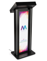 LED Podium with Graphic for Exhibits