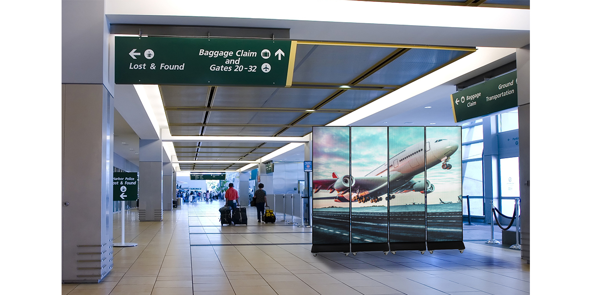 LED Digital Poster in Airports