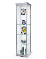 "Illuminated Tower Display Cabinet, 75"" Overall Height"