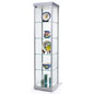 Illuminated Tower Display Cabinet with 4 Shelves