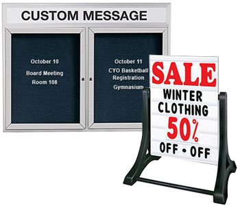 letters for signs notice amp message boards signage solutions 1120