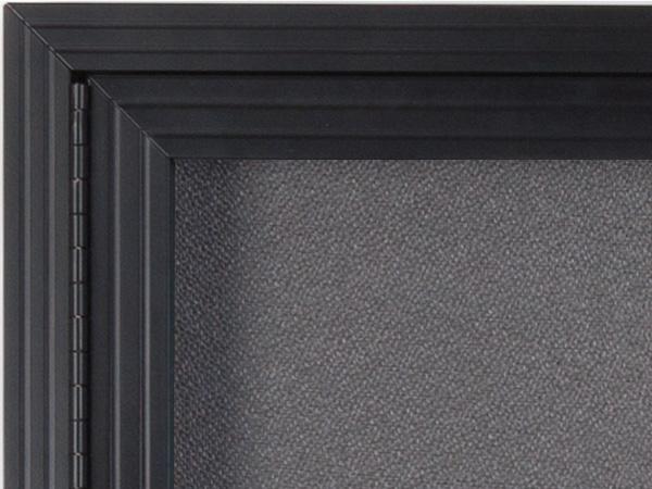 Fabric Cork Board Bulletin Board With Single Locking Door