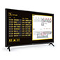 Commercial grade TV for signage with Bluetooth and WIFI connectivity