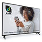65 inch 4k SuperSign TV with sleek black attachable legs