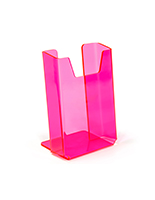 Bright neon pink brochure holder