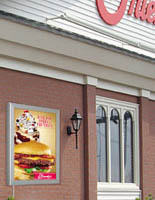 outdoor light box sign promotes new products