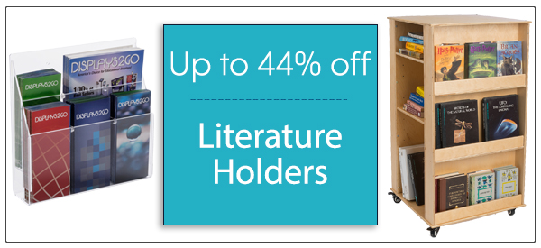 all styles of literature holders on sale