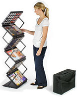 Collapsing Literature Stand w/ Case