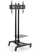 Mobile Flat Panel TV Stand, Stationary Bracket