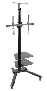 2 Shelf TV Stand w/ Cable Management