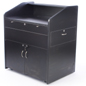 Multimedia lectern cabinet with rolling casters