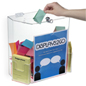 Clear Suggestion Box with Brochure Pockets - Lightweight