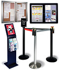 different shapes of lobby displays are available here