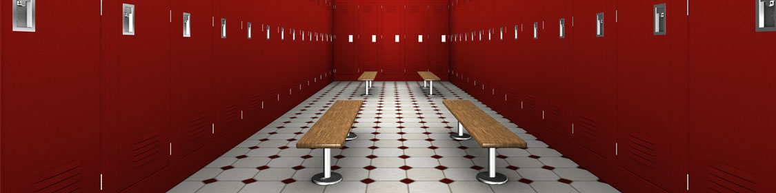 Locker Room Furniture, Signs & Displays