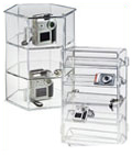 All of these model display cases feature a lock and set of keys to control access.