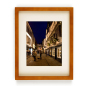 Orange Matted Picture Frame