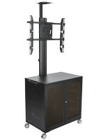 AdjIM体育table Floor Standing TV Cart With Power Management