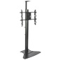 Heavy Duty TV Stand With Power Strip, Flat Base