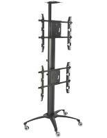 Dual TV Stand With Power Distribution for Business Meetings