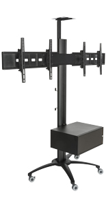 Dual Screen TV Stand With Power Distribution, 198lb Combined Loading Capacity