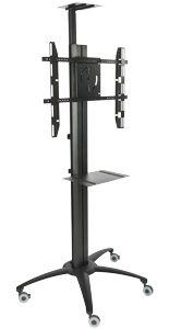 Mobile TV Stand With Power Distribution for Trade Shows