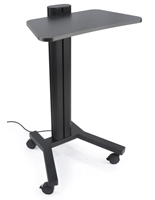 Standing Mobile Laptop Cart, Ergonomic