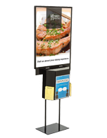 Metal Black Sign Stand with Sweepstakes Box
