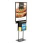 Double-Sided Black Sign Stand with Sweepstakes Box