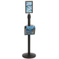 Stanchion w/ Literature Pocket & Sign Frame is Ideal for Concert Venues