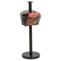Stanchion Post with 2 Literature Pockets Great for Retail Locations