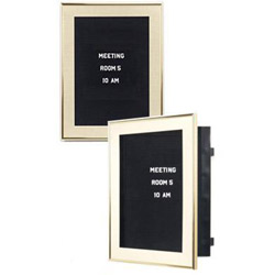 gold letter boards