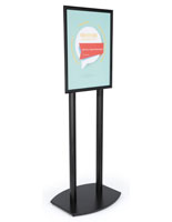 22x28 Double Pole Sign Stand in Black Finish Aluminum