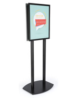 22x28 Twin Pole Sign Stand in Black Finish Aluminum