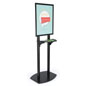 22x28 Double Pole Bulletin Holder with Black Snap Frame