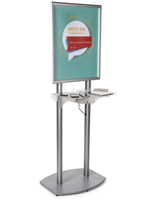 Poster Frame Charging Station with Adjustable Shelf