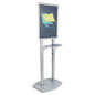 22x28 Double Pedestal Poster Display with Adjustable Shelf