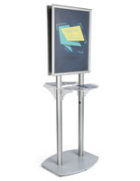 22x28 Twin Pedestal Poster Display with Double Sided Design
