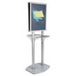 22x28 Twin Pedestal Poster Display with Silver Finish
