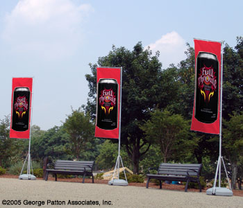 Advertising Flags Used Outdoors