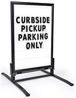 Portable Sign with Changeable Letter Set for Restaurants