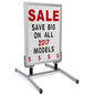 Portable Sign Board with Changeable Letters with Headers