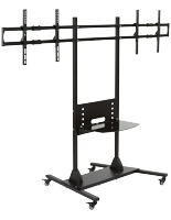 Dual Monitor Floor Stand, Supports 2 Screens