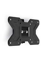Black steel TV wall mounting plate for 10 inch to 32 inch screens