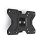 "TV wall mounting plate 10"" - 32"" with low profile design in black color"