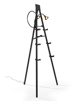 Illuminated gallery standing easel with three height options