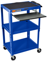 Media Carts with Shelving